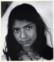"Ansel Adams's ""Mexican Girl Near Pescadero, California"" (circa 1958)."